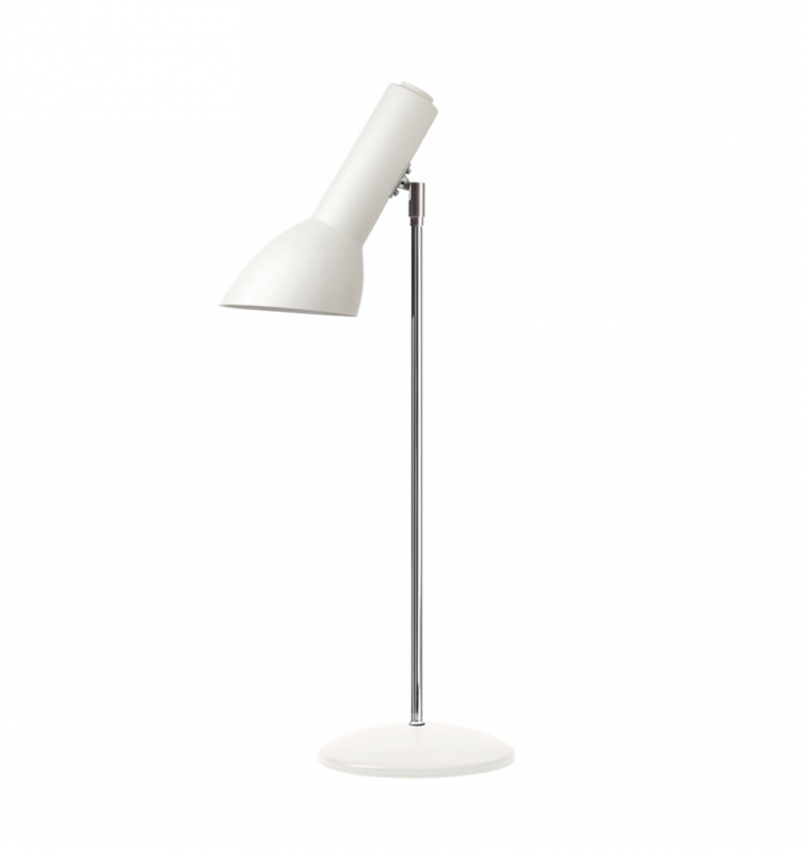 Oblique Bordslampa, vit matt