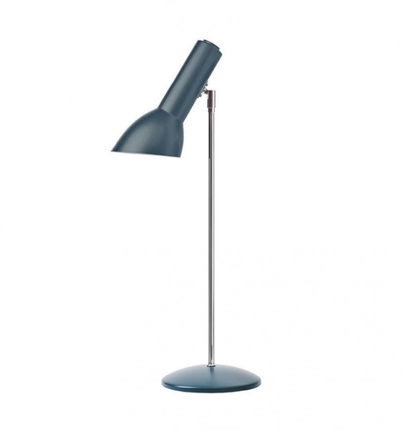 Oblique Bordslampa, Petrolblå