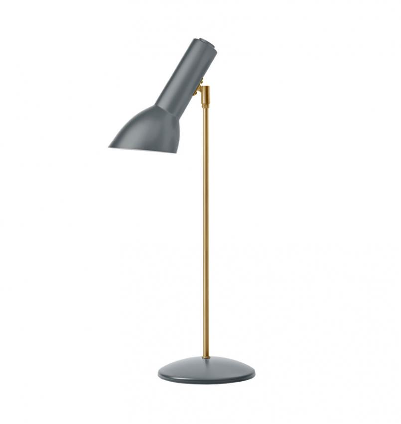 Oblique Bordslampa, Grå/mässing