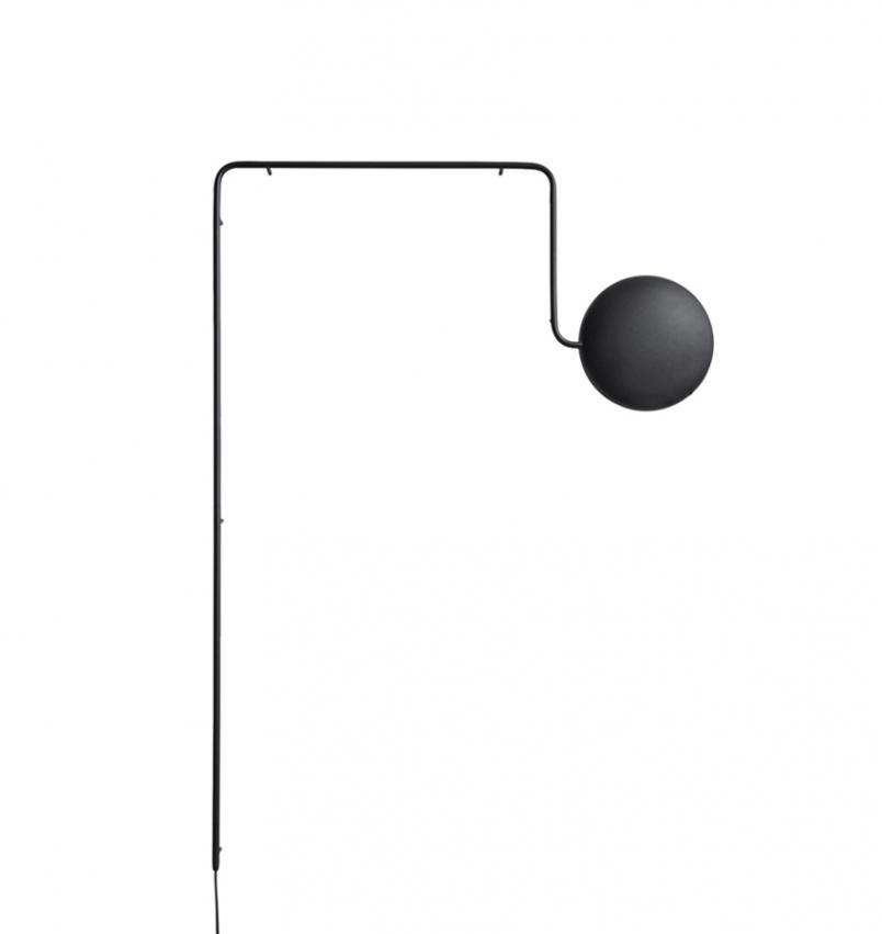 Mercury vägglampa, svart