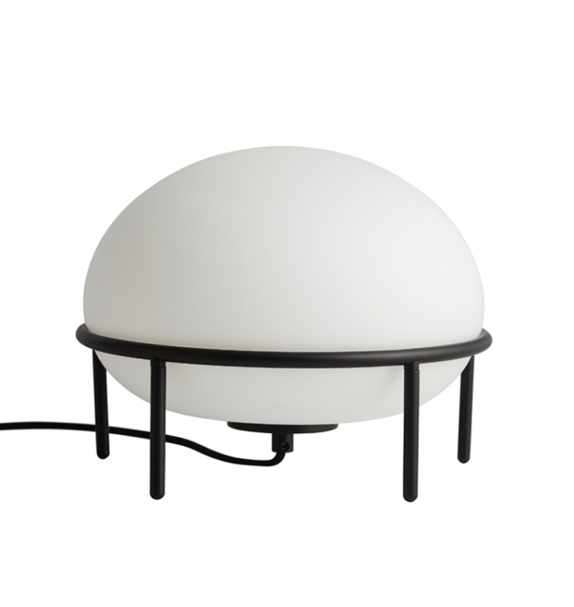 Pump bordslampa svart/opal