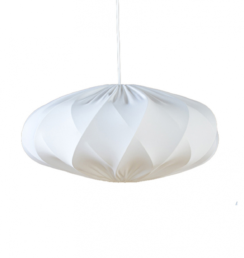 Lampskärm Twister Elips vit stor