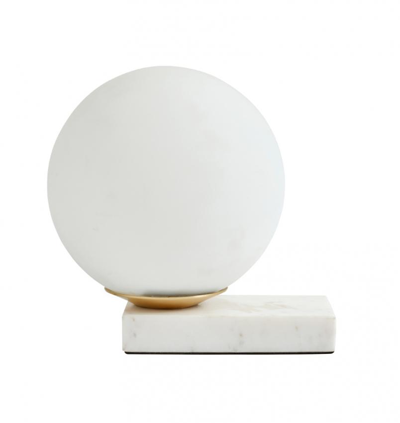 Bordslampa ENYO Vit/Marmor