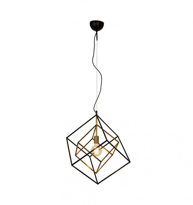 Cubes taklampa svart