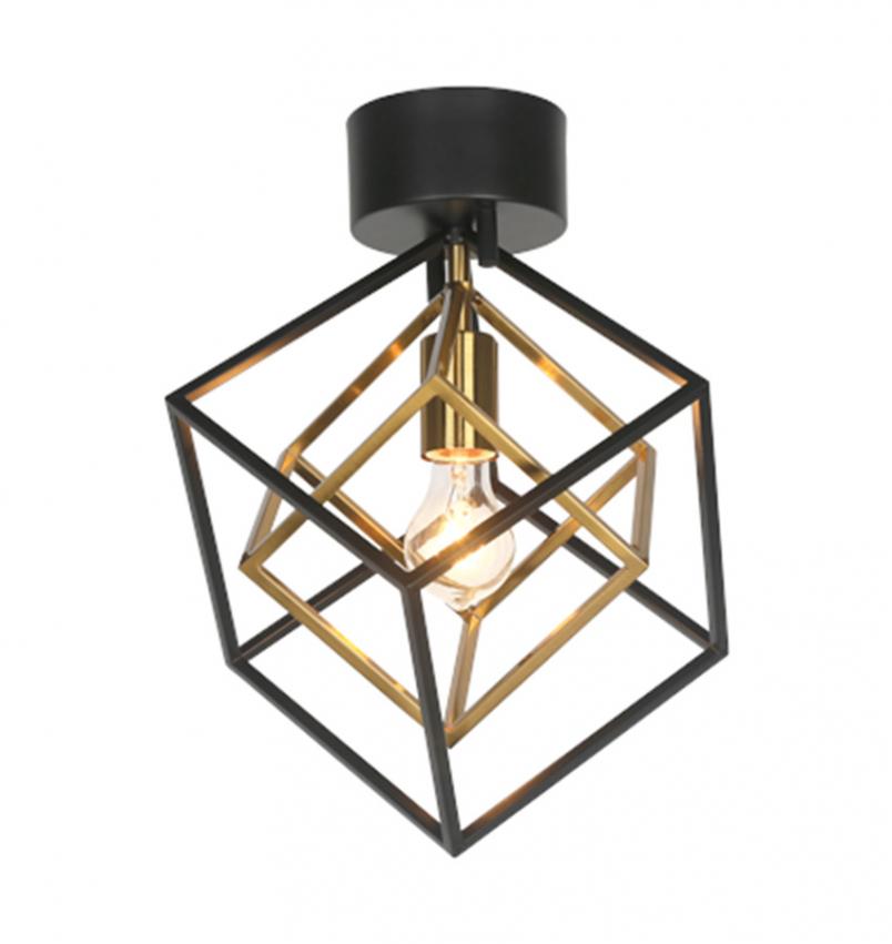 Cubes plafond, svart/matt mässing