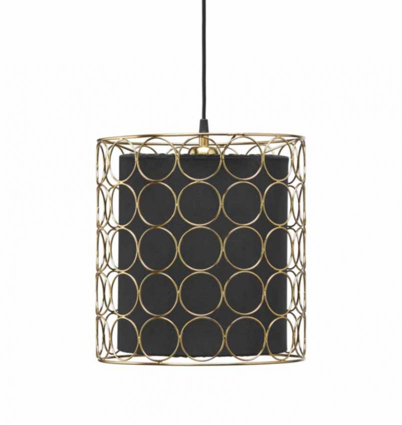 Ring taklampa 30cm guld/svart