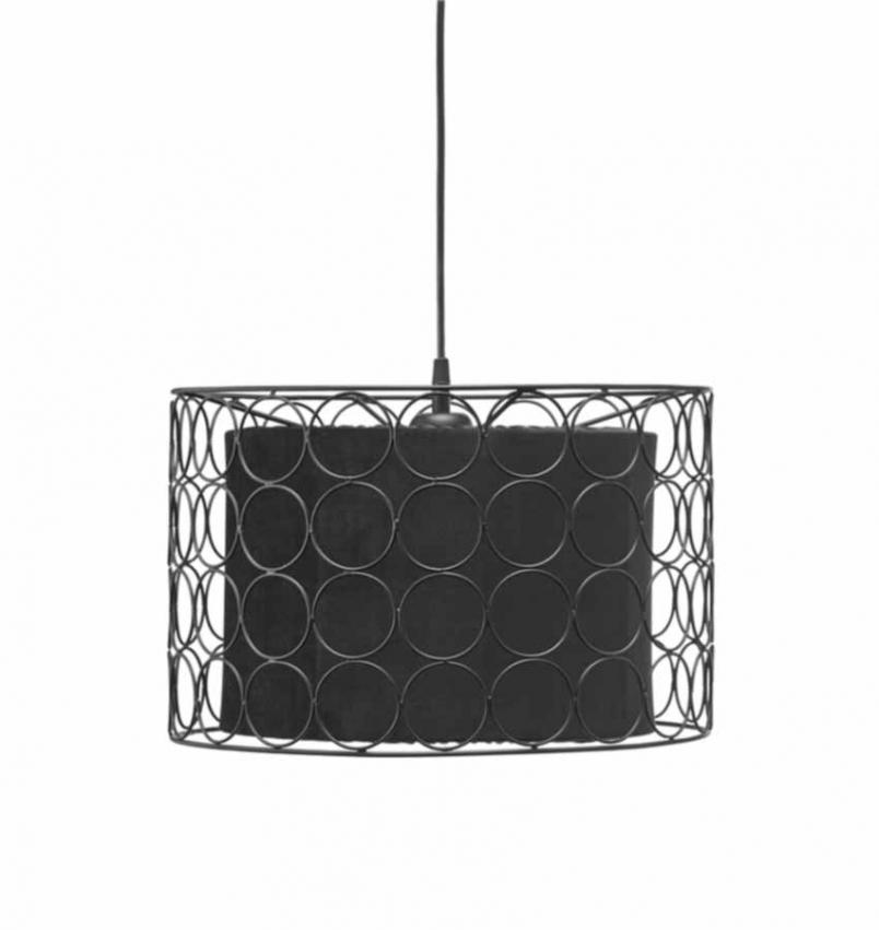 Ring taklampa 40cm svart