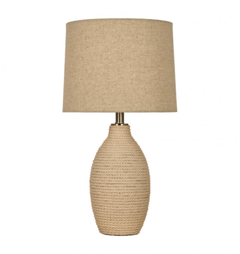 Sisal bordslampa stor naturvit