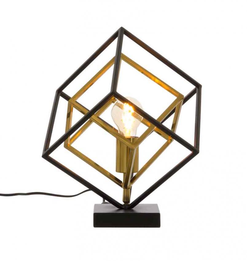 Cubes bordslampa svart