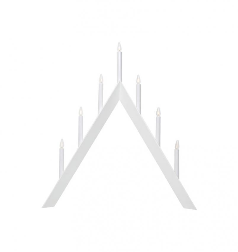 Ljusstake Arrow, Vit