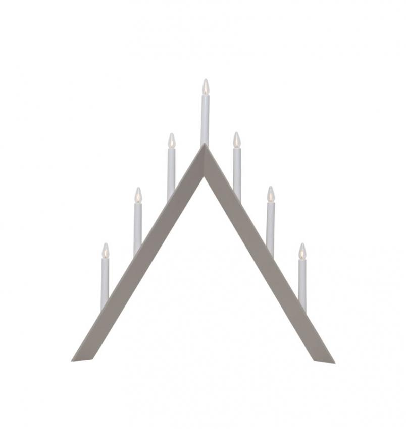 Ljusstake Arrow, Greige/Beige