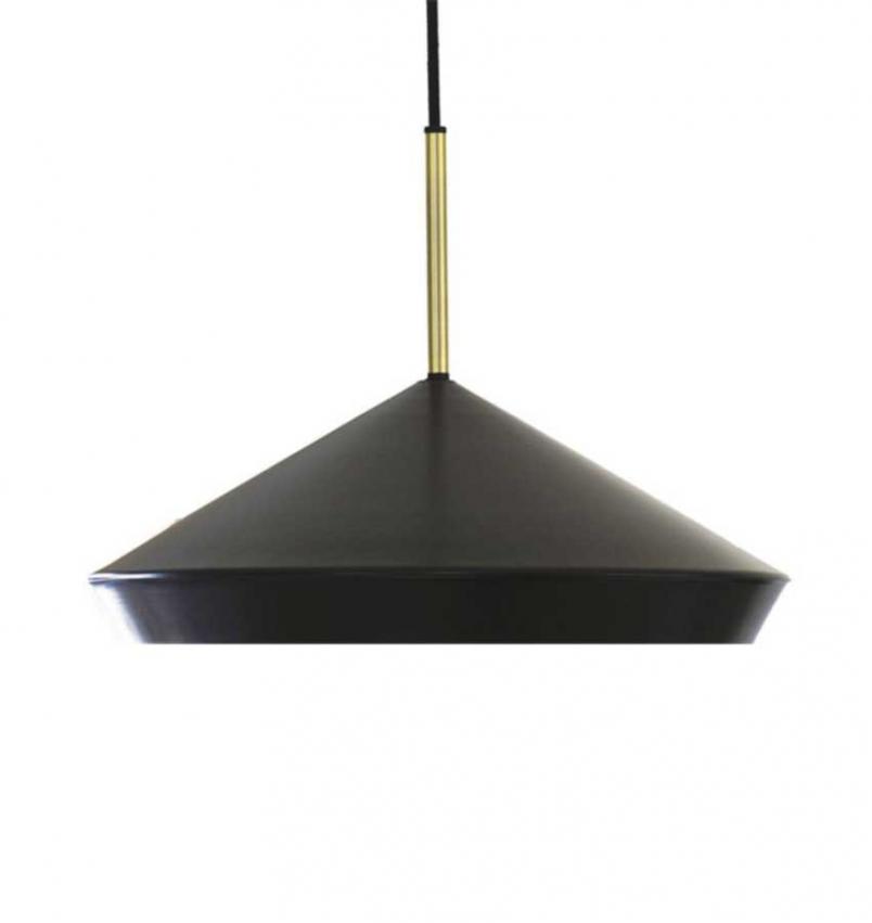 Geometri Taklampa svart/guld 45