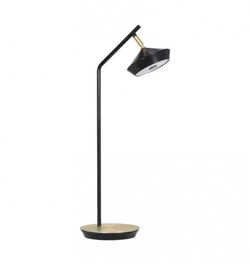 Geometri bordslampa svart/guld