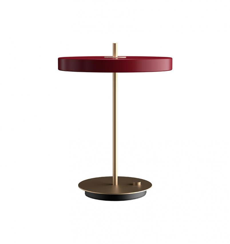 Asteria bordslampa, Röd