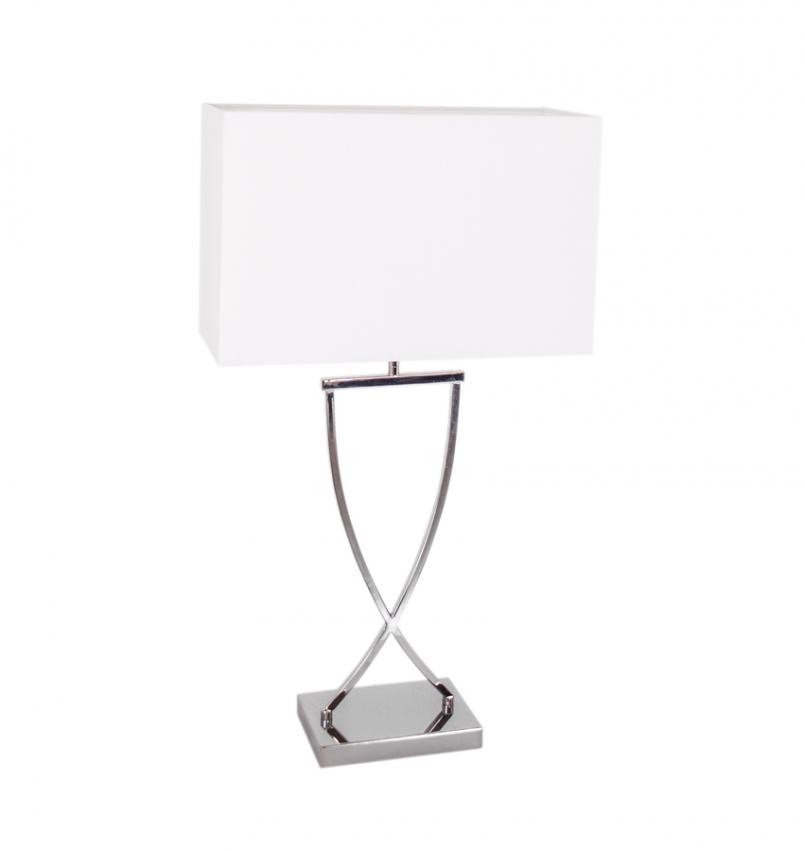 Omega bordslampa 69 krom/vit
