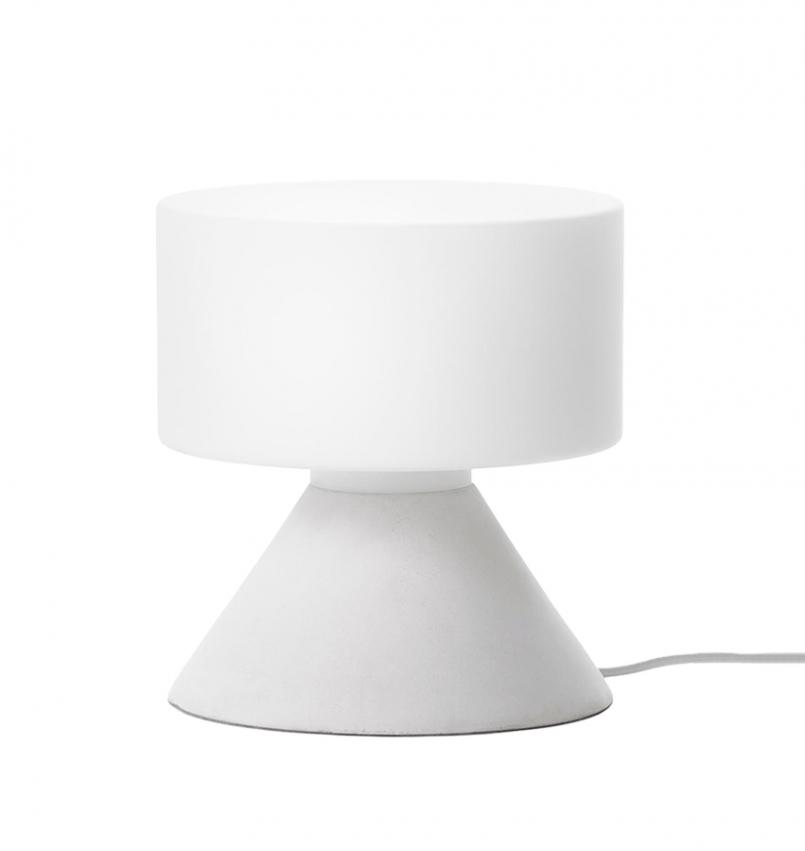 Concrete Bordslampa Vit