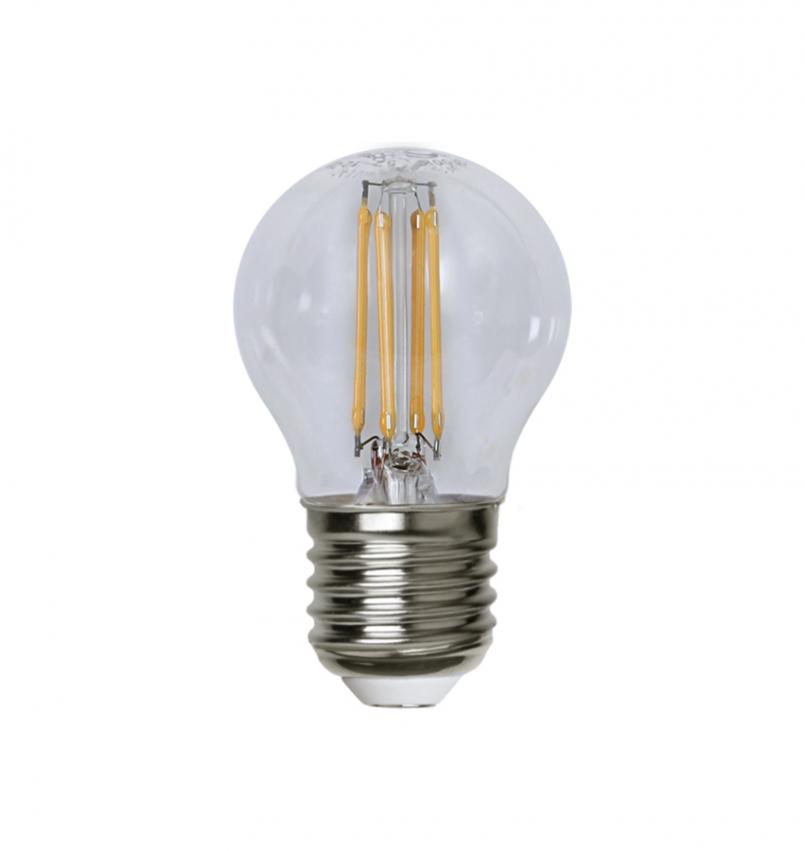 LED-Lampa E27 G45 Klar Dimmer