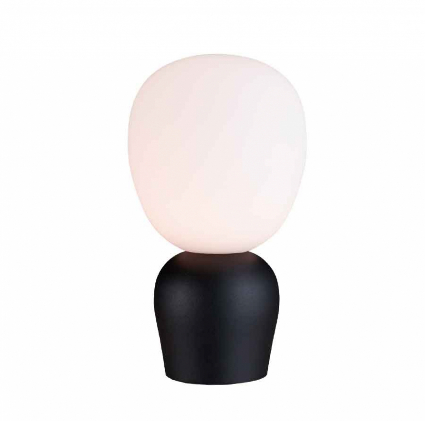 Bordslampa Buddy Svartstruktur/Opal