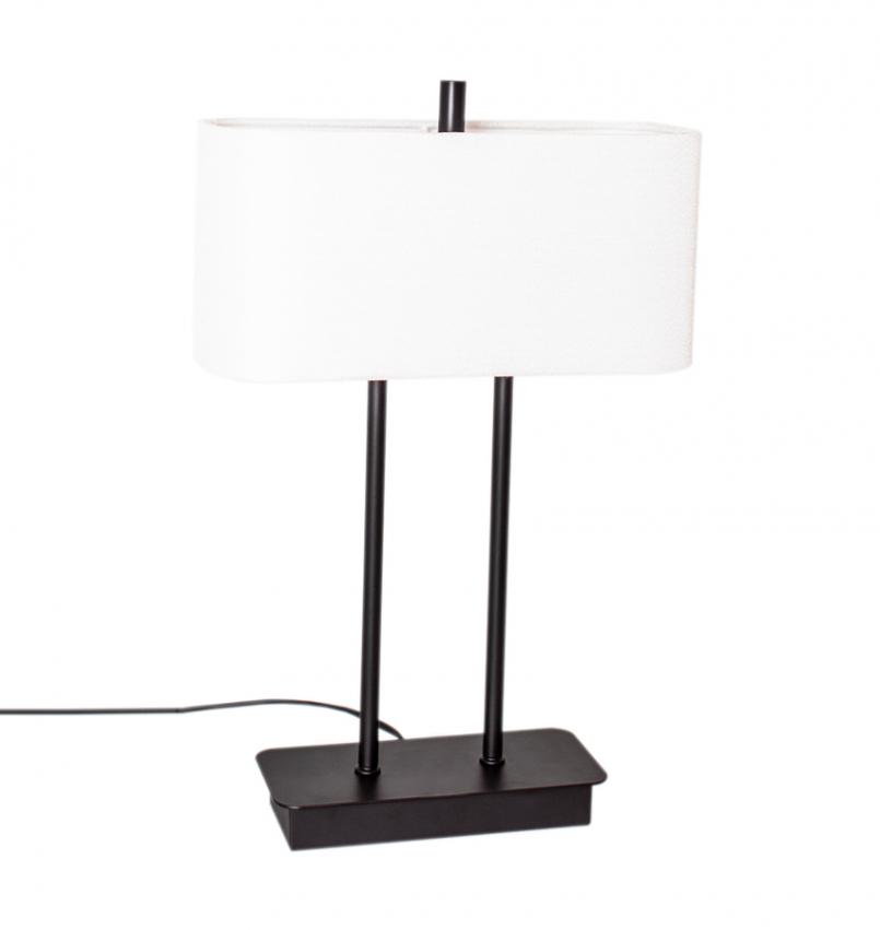 Luton bordslampa svart/vit