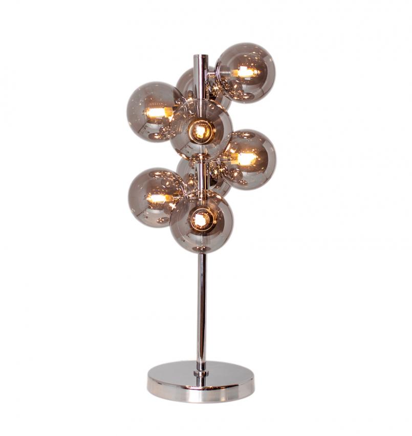 Splendor bordlampa Krom/rökgrå