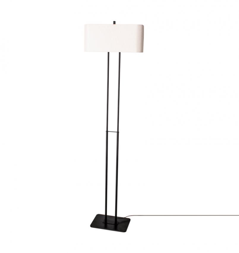 Luton golvlampa Svart/Vit