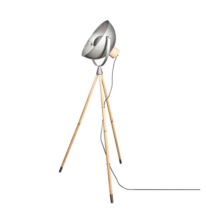 Buckler Golvlampa Antiksilver