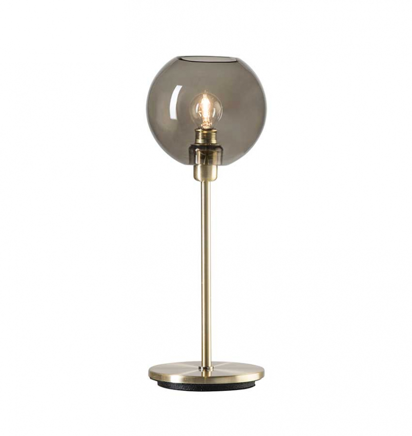 Bordslampa Gloria Mässing/Rökfärgat