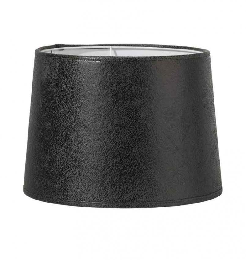 Sofia läder lampskärm gråsvart 30cm
