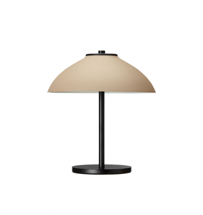 Bordlampa Vali liten svart/sand