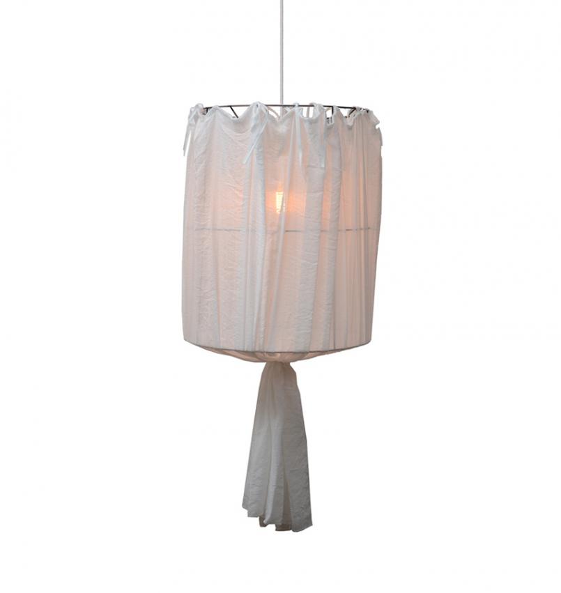 Lampskärm Khom Loy vit liten