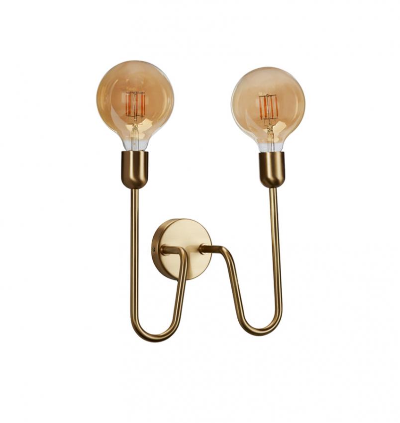Vägglampa Regal Duo guld
