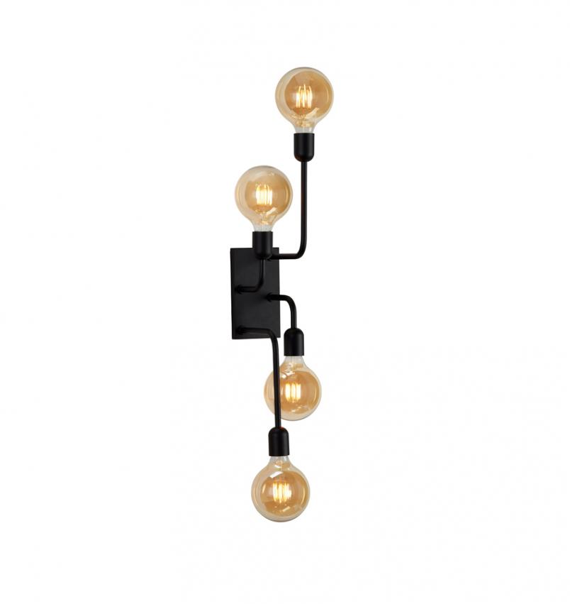 Vägglampa Regal XL svart
