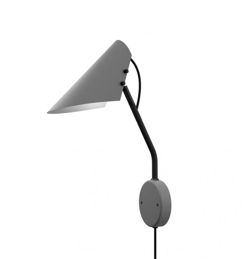 Vägglampa Vincent Grå