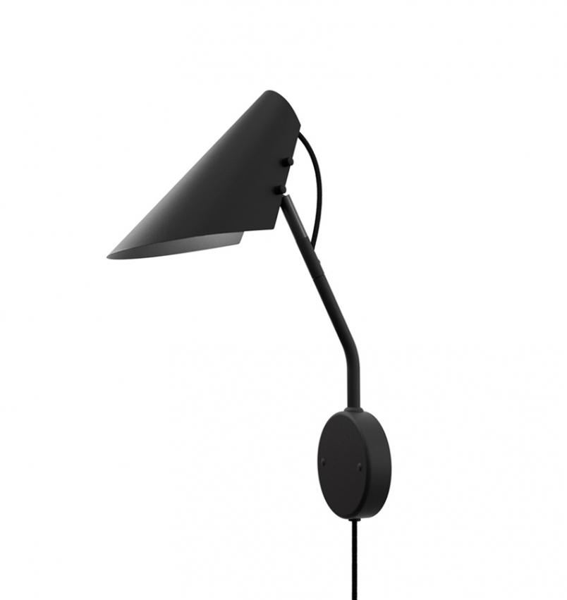 Vägglampa Vincent Svart