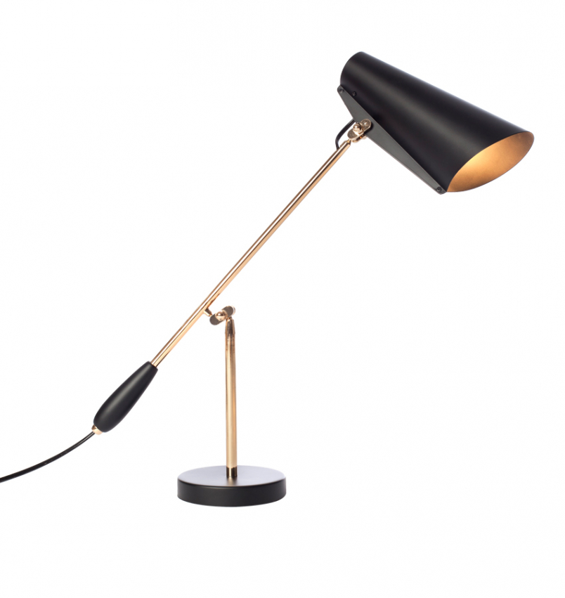 Birdy Bordslampa, Svart/Mässing