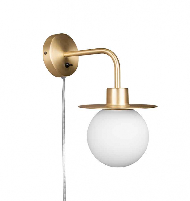 Vägglampa Art Deco Mässing