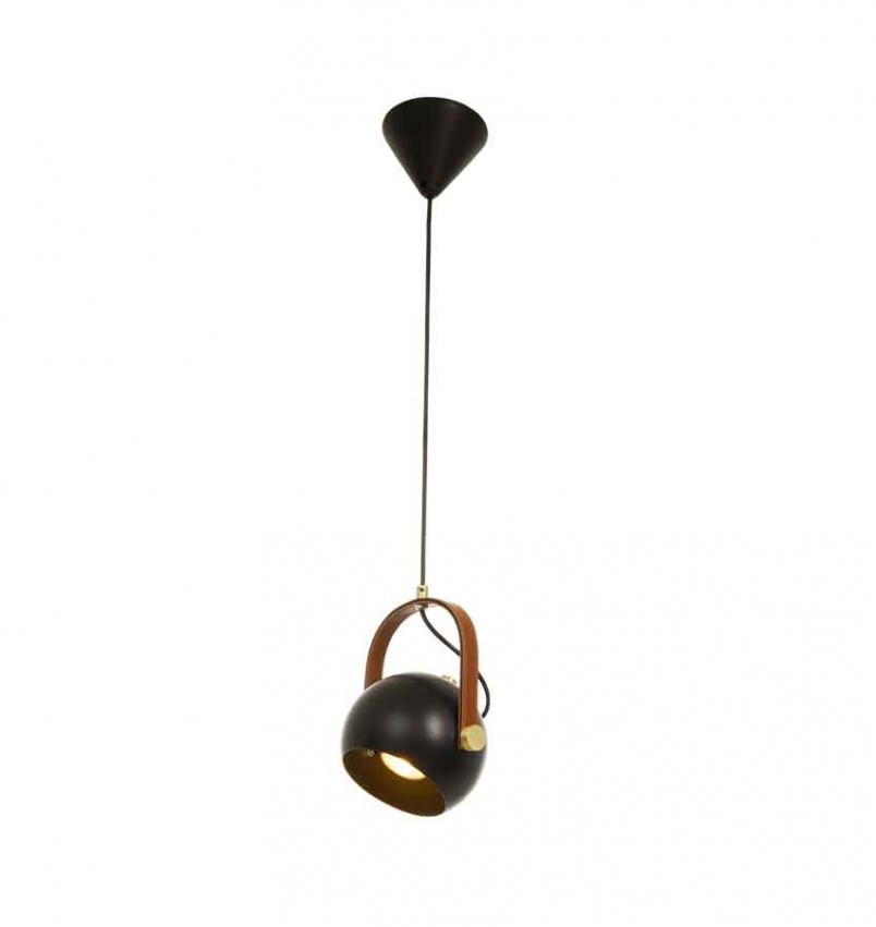 Bow taklampa single svart