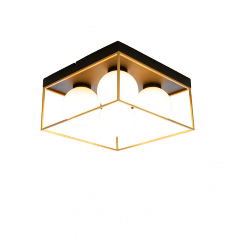 Astro plafond liten, svart/guld/opal