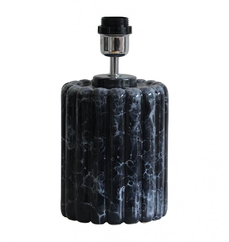Odessa Lampfot svart marmor 29cm