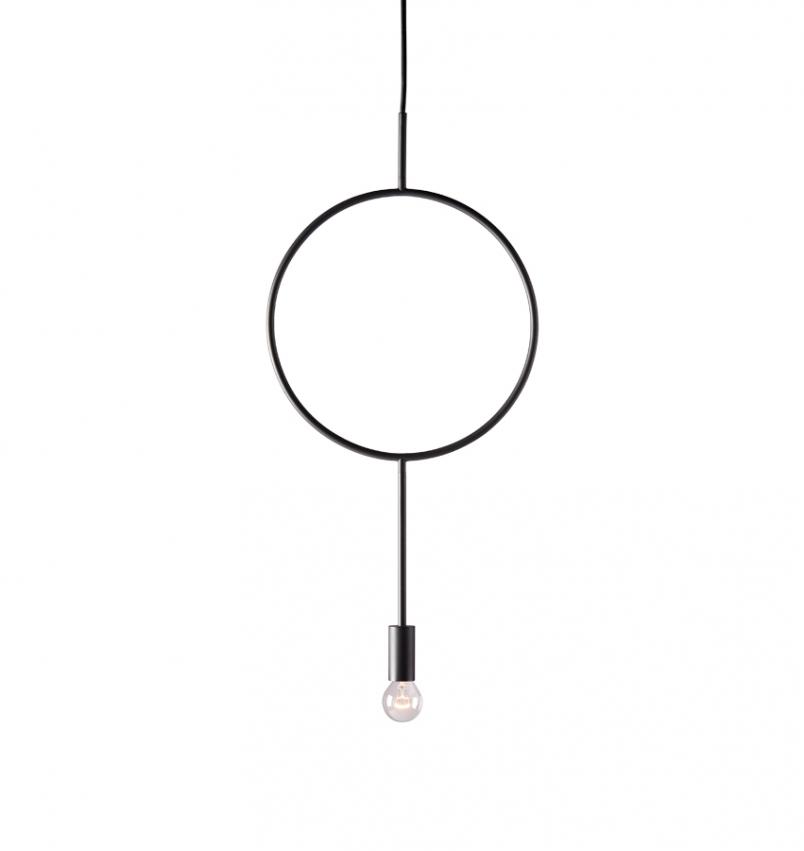Taklampa Circle svart