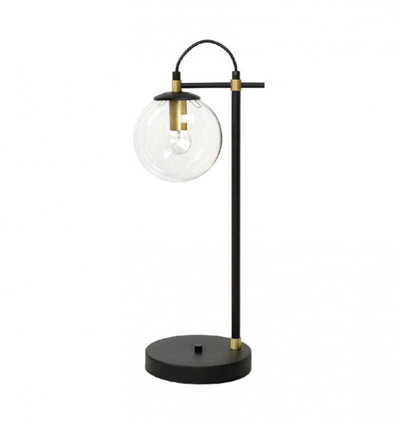 Bordslampa Perla 1, Svart/Mässing