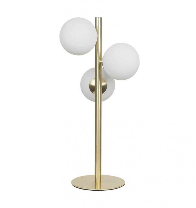 Molekyl bordslampa 3 mässing