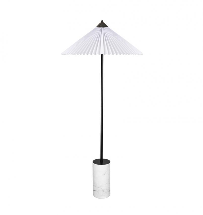Golvlampa Matisse svart/vit