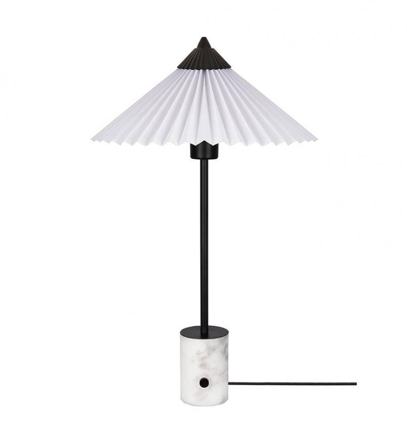 Bordslampa Matisse svart/vit