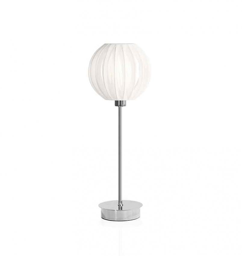 Bordslampa Plastband Vit/Krom
