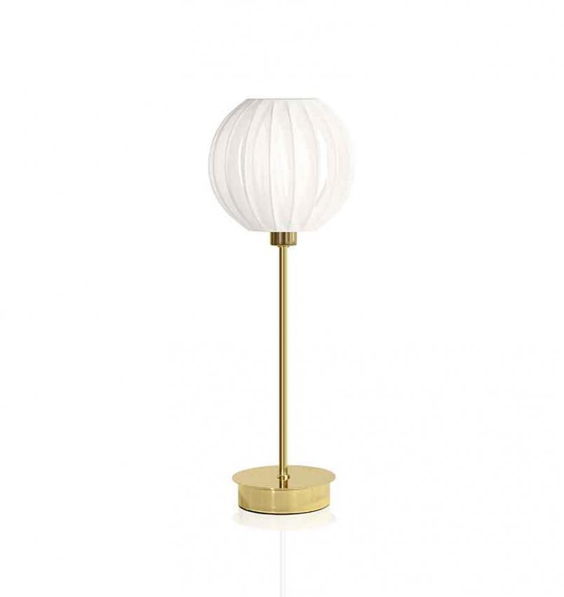 Bordslampa Plastband Vit/Mässing