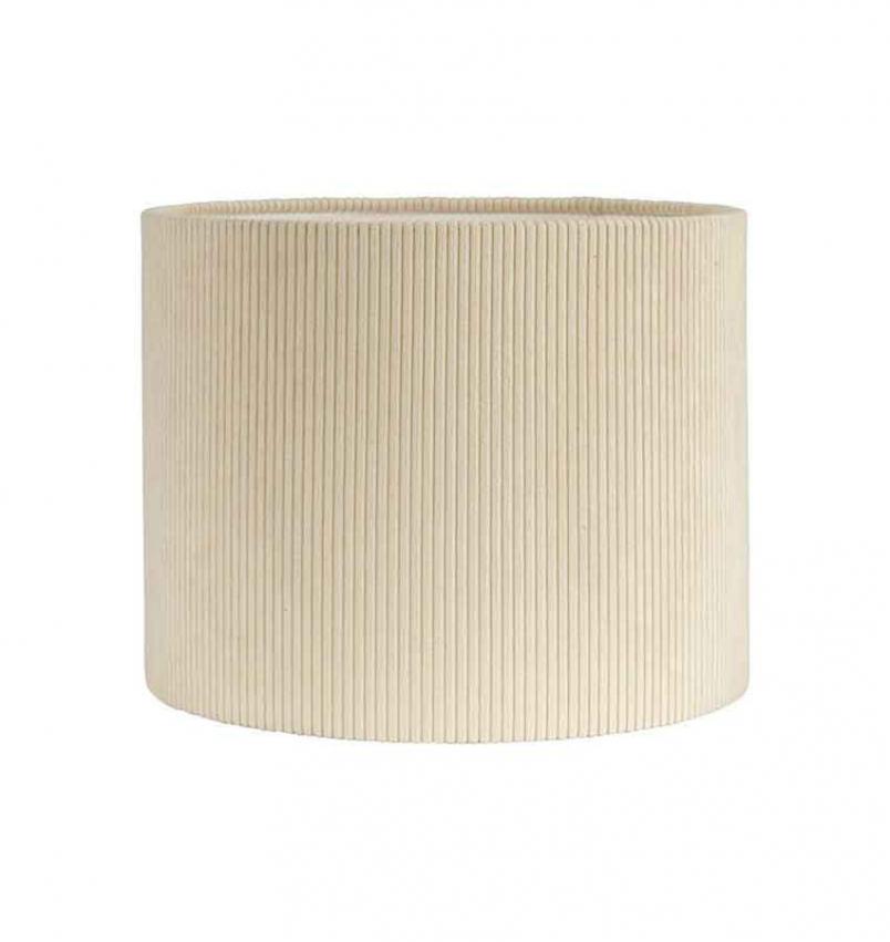 Kerstin Manchester lampskärm, creme 30cm