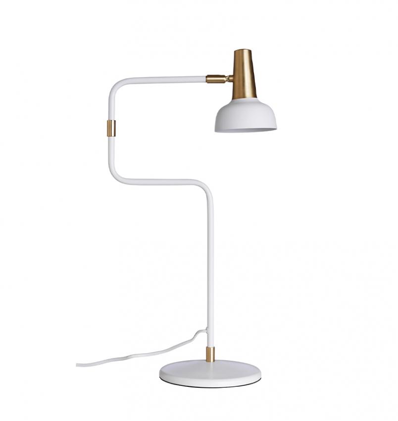 Ray bordslampa vit/mässing
