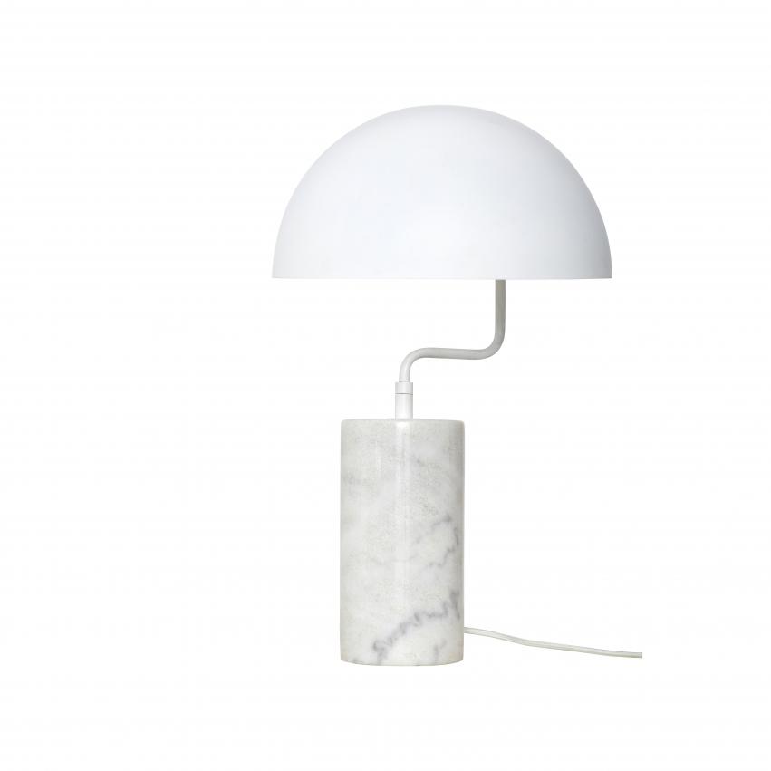 Bordslampa Marmor, Vit