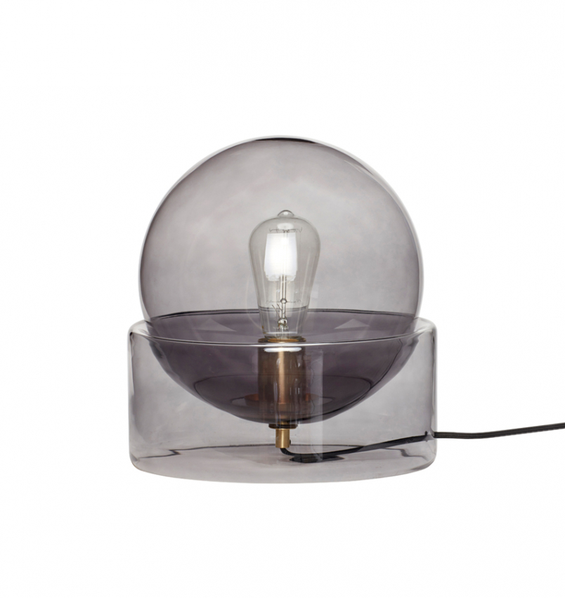 Bordslampa Glas/Rök